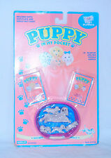 B1 VINTAGE Puppy In My Pocket ~*RARE Poodles Mommy Blanche & Puppies MOC!*~