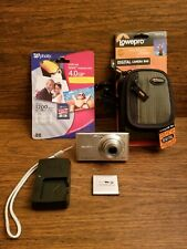 Sony DSC-W530 14.1MP Cybershot Digital Camera Silver w/ 4gb SD Card & Carry Case