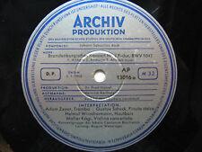 Archiv Produktion Vinyl LP Johann Sebastian Bach Brandenburgisches Konzert 1953