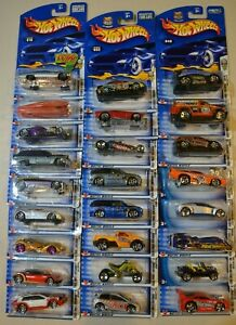 Hot Wheels 2003 lot of (25) First Editions - 24 vehicles plus 1 variation