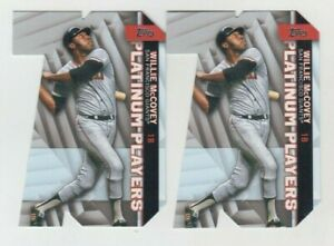 (2) Willie McCovey 2021 TOPPS SERIES 1 PLATINUM PLAYERS DIE CUT LOT GIANTS