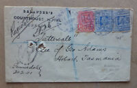 1901 NSW REGISTERED COVER GUNNEDAH FE 20 FOR DELANDERS COURTHOUSE HOTEL