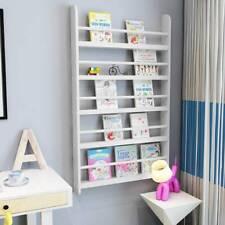 White Children Bookcase Kids Display Bookshelf Storage Unit Shelving Wooden Rack