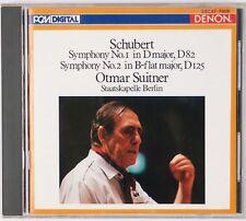 SCHUBERT: Symphony No 1, 2, Otmar Suitner DENON JAPAN CD NM