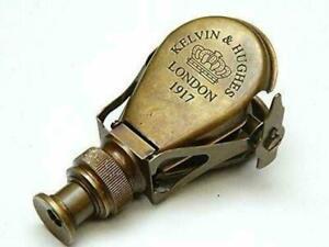 Antique Brass Pocket Monocular,Folding Binoculars Handmade Pocket Telescope.
