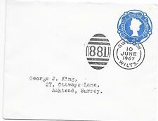 GB SPECIAL CANCEL EMBOSSED COVER H&B EP87 SWINDON DUPLEX 10/6/1967