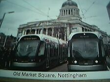 postcard unused crich tramway nottingham tram old market square