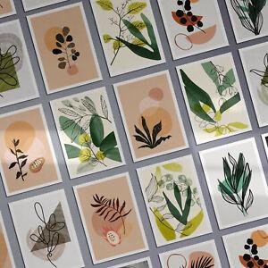 Botanical Prints Tropical Plant Wall Art Leaf Prints Bedroom Wall Art Green
