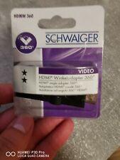 Schwaiger HDMW 360 360° HDMI™-Adapter HDMI™-Stecker   HDMI™-Buchse