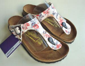 new PAPILLIO BIRKENSTOCK Sandals GIZEH BF Rambling Rose Beige US5 EU36 UK3.5 R