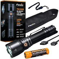 Fenix TK26R 1500 Lumen White Red and Green Flashlight with Lumentac Case