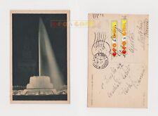 Cartolina - MILANO FONTANA LUMINOSA DEL CASTELLO - 1947 Viaggiata senza bollo E2