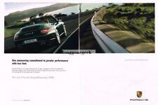"2009 PORSCHE 911 Carrera ""S"" Green 2-page Advertisement"
