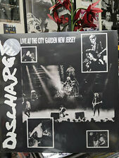 DISCHARGE Live at City Garden New Jersey LP Never Again State Control PUNK ROCK