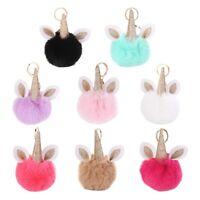 Cute Fluffy Faux Fur Pompom Ball Pendant Key Chain Handbag Key Ring Keyring Gift