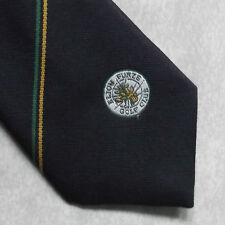 Vintage Golf Tie Mens Necktie Retro Sport Golfing Club Elton Furze