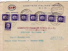 50 cent Imperiale(251)striscia di cinque+coppia di due+singolo su busta 24.11.45