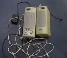 Juster Vintage Computer Speakers Set w Power Supply Used Work Fine Hi-Fi