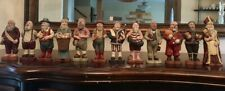 Sarah's Attic Santa's of the Month 1988 Complete Set w/Wooden Display Book!