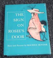 Vtg 1960 First Edition Book THE SIGN ON ROSIE'S DOOR Maurice Sendak