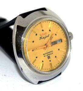 Restored HMT Kajal 21 J Mechanical Automatic Day & Date Men's Wrist Watch