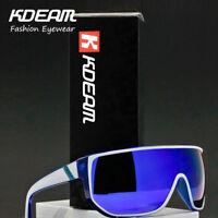 NEW Large Oversize Windproof Sunglasses UV400 Sport Cycling Bike Sunglasses