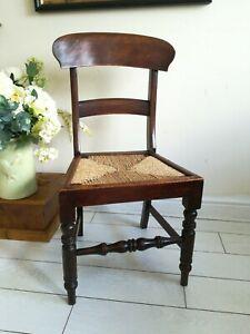 Antique Victorian Bar Back Chair Farmhouse chair Bedroom Hall