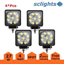 4X 27W 4inch Square LED Light Bumper Tractors Offroad Driving ATV Spot Lamp Ford