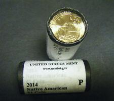 2014 Native American SACAJAWEA GOLD Dollar $1 25-Coin Original Mint roll Por D