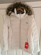 The North Face Gotham II 550 Down Parka Coat Size XL 16 vintage white/off white