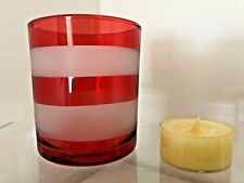 Yankee Candle~INTO PORT CORAL STRIPE V/TL~New!~Bonus Tealight!!