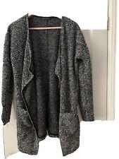M&S Grey Boucle Waterfall Style Cardigan/