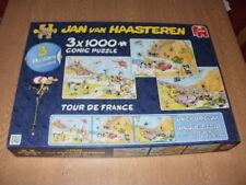 "Jan Van Haasteren 3 X 1000 PIECE JIGSAW PUZZLES - ""Tour De France"""