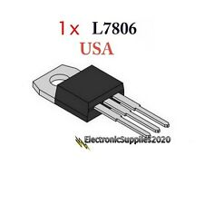Transistor L7806 Voltage Regulator IC 6V 1.5A by ST, USA Fast Shipping