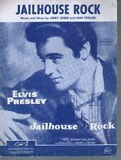 Jailhouse Rock 1957 Elvis Presley Sheet Music