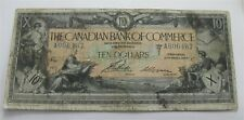 1917 Canada Canadian Bank of Commerce $10 Dollars Chartered Large Banknote