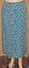 """C.J. Banks ~Size X ~Fits 32"""" to 36"""" Waist ~Bright Floral Print Skirt"""