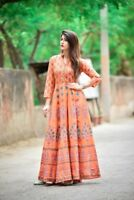 Indian Kurti Kurta Women Pakistani Long Tunic Designer Ethnic Floral Gown Tees