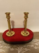 """Vintage Pair Of Brass Candleholder by Copper Craft, Usa - 5"""" Tall - Used"""
