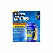 2 PACKS NEW OSTEO Bi-FLEX TRIPLE STRENGTH W/VITAMIN D 380 ct. Joint Health