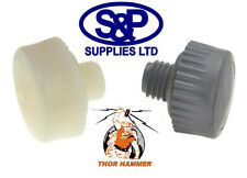 REPLACEMENT HAMMER FACES FOR THOR 710NF/VF PAIR OF 32MM WHITE / GREY NYLON