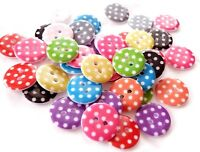 LOT MIXTE 10 BOUTON ROND A POIS  MULTICOLORE SCRAP COUTURE SCRAPBOOKING PERLE