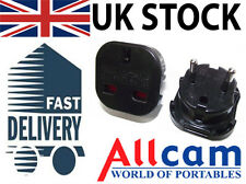 2 Pc - UK 3pin to European Germany France EU 2 pin Travel Adapter CE approved