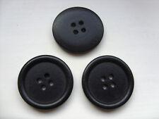 20 Piezas Negro Grande Madera Coser Botones Scrapbooking // 30mm