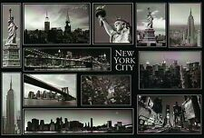 Many Pictures of New York City, NY, Black & White Card, Broadway etc. - Postcard
