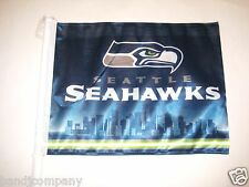 Seattle Seahawks CAR FLAG  TWO SIDED STRONG  Great For Sports Room