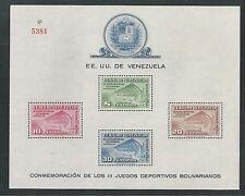 VENEZUELA # C337a  3RD BOLIVARIAN GAMES Souvenir Sheet