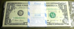 2003 $1 G* Chicago star pack (100 notes)