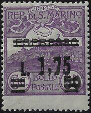 1927 San Marino Espresso non emesso soprastampato per P.O. MNH