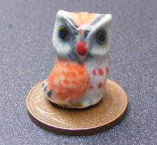 Dolls House Miniature 1:12th Scale Bird & Owl Green Wallpaper Tapety Zabawki